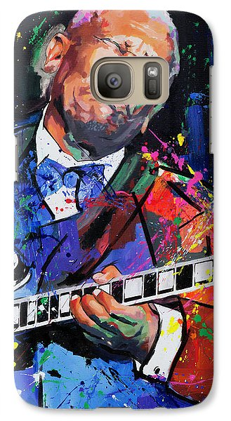 Galaxy Case featuring the painting Bb King Portrait by Richard Day
