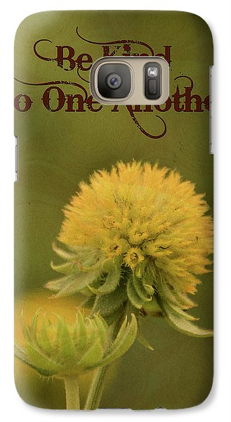 Galaxy Case featuring the mixed media Be Kind To One Another by Trish Tritz