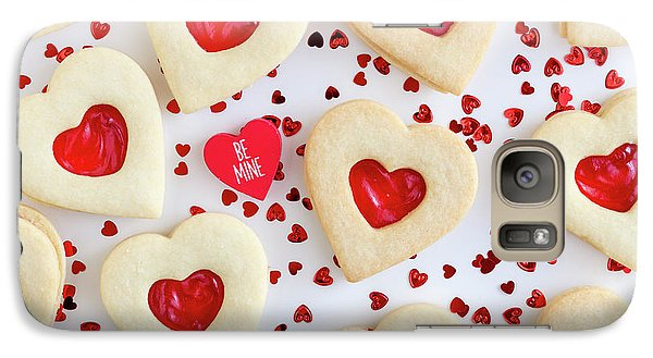 Galaxy Case featuring the photograph Be Mine Heart Cookies by Teri Virbickis