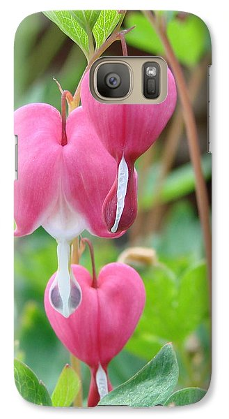 Galaxy Case featuring the photograph Be Still My Little Bleeding Heart by Margaret Bobb