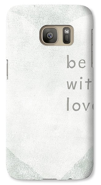 Galaxy Case featuring the mixed media Be With Love - Art By Linda Woods by Linda Woods