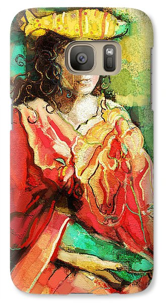Galaxy Case featuring the painting Be You by Carrie Joy Byrnes