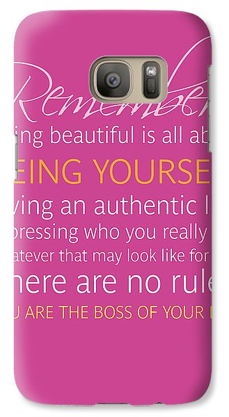 Galaxy S7 Case - Be Yourself by Luzia Light