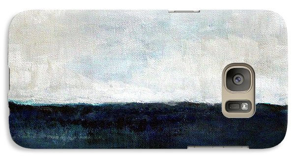 Impressionism Galaxy S7 Case - Beach- Abstract Painting by Linda Woods