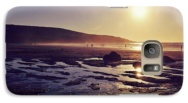 Galaxy Case featuring the photograph Beach At Sunset by Lyn Randle