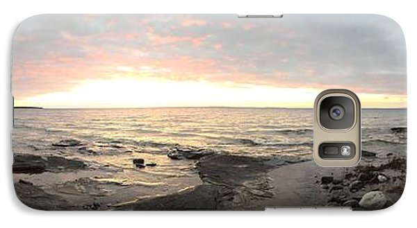 Galaxy Case featuring the photograph Beach At Sunset  by Paula Brown