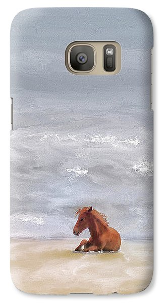 Galaxy Case featuring the photograph Beach Baby by Lois Bryan