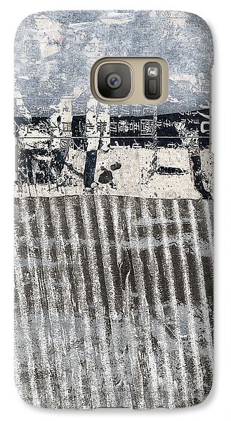 Galaxy Case featuring the photograph Beach Barrier Abstract by Carol Leigh