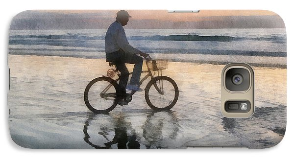 Galaxy Case featuring the digital art Beach Biker by Francesa Miller
