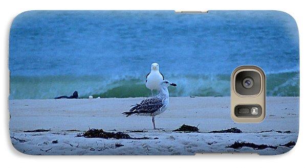 Galaxy Case featuring the photograph Beach Birds by  Newwwman