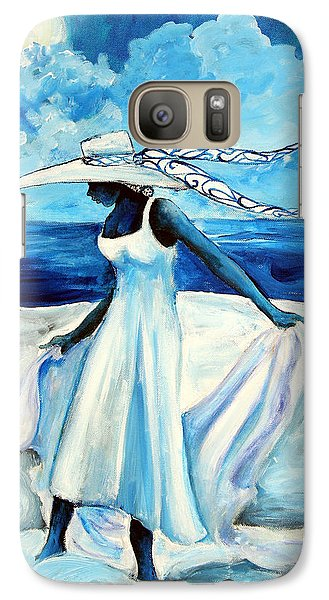 Galaxy Case featuring the painting Beach Blues by Diane Britton Dunham