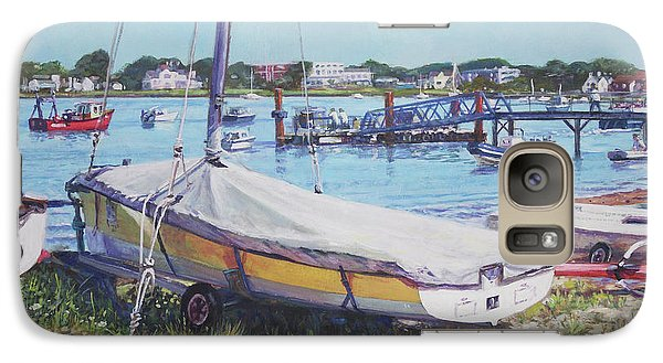 Galaxy Case featuring the painting Beach Boat Under Cover by Martin Davey
