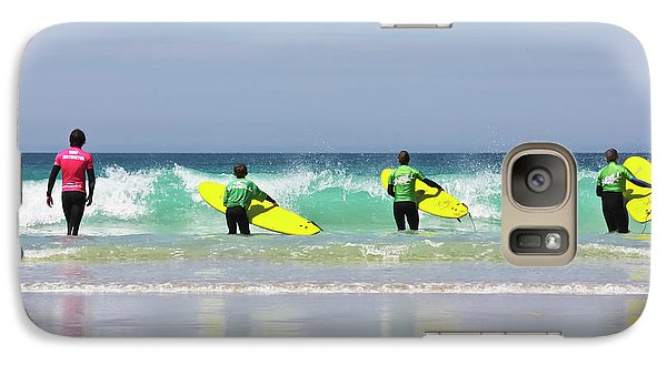 Galaxy Case featuring the photograph Beach Boys Go Surfing by Terri Waters