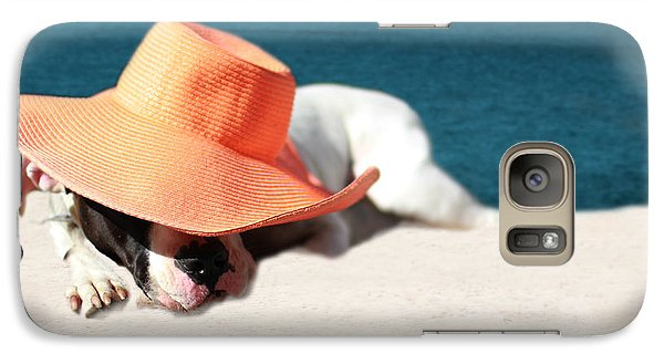 Galaxy Case featuring the photograph Beach Day For Bubba by Shelley Neff