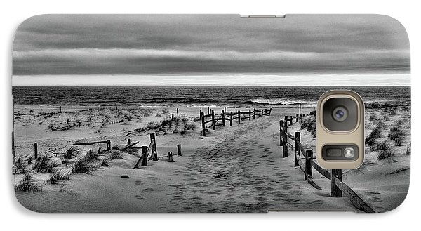 Galaxy Case featuring the photograph Beach Entry In Black And White by Paul Ward