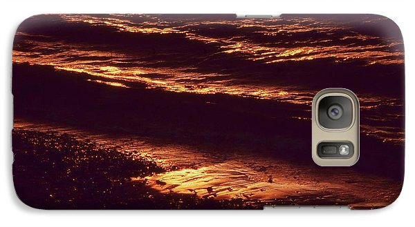 Galaxy Case featuring the photograph Beach Fire by Laurie Stewart