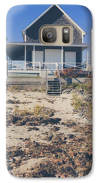 Galaxy Case featuring the photograph Beach Front Cottage by Edward Fielding