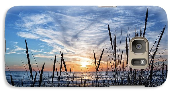 Galaxy Case featuring the photograph Beach Grass by Delphimages Photo Creations