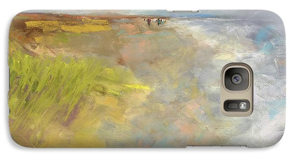 Galaxy Case featuring the painting Beach Grasses by Frances Marino