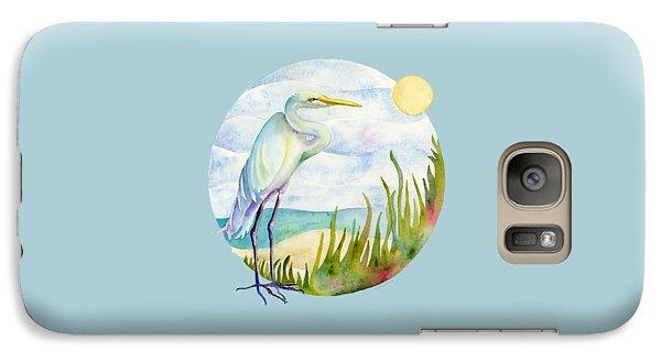 Egret Galaxy S7 Case - Beach Heron by Amy Kirkpatrick