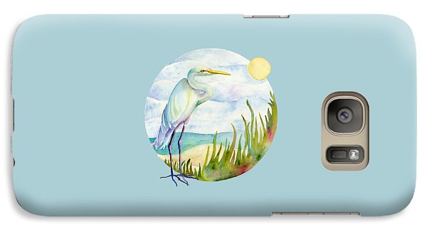 Beach Heron Galaxy S7 Case by Amy Kirkpatrick