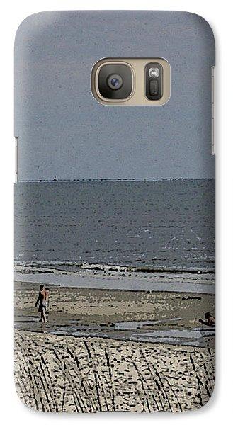Galaxy Case featuring the photograph Beach House Backyard by Skyler Tipton