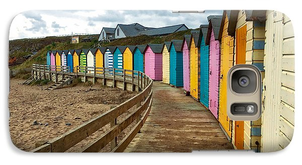Galaxy Case featuring the photograph Beach Huts by RKAB Works