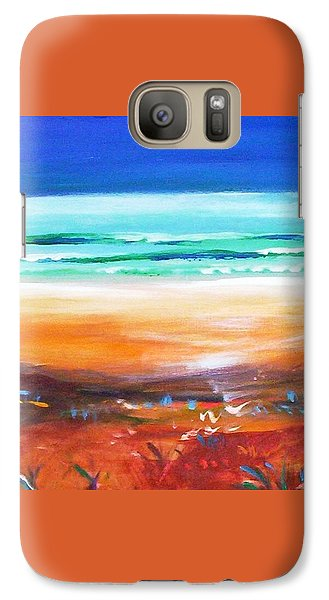 Galaxy S7 Case featuring the painting Beach Joy by Winsome Gunning
