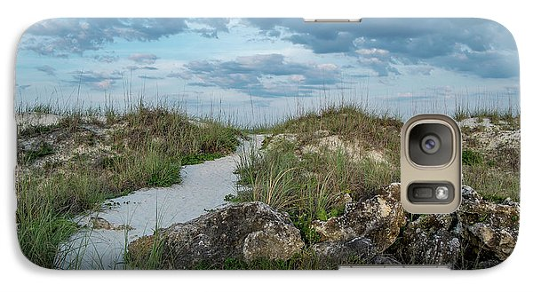 Galaxy Case featuring the photograph Beach Path by Louis Ferreira