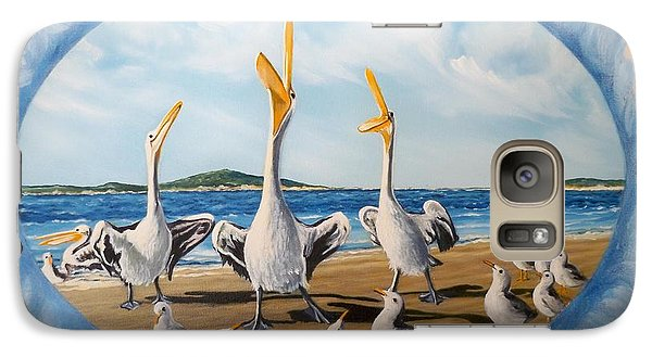 Galaxy Case featuring the painting Beach Platoon by Sigrid Tune