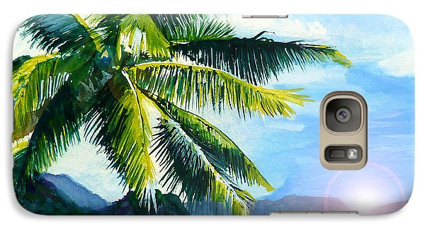 Galaxy Case featuring the painting Beach Scene by Curtiss Shaffer