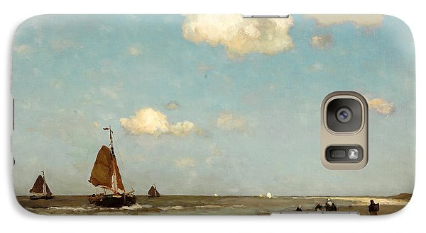 Galaxy Case featuring the painting Beach Scene by Jan Hendrik Weissenbruch
