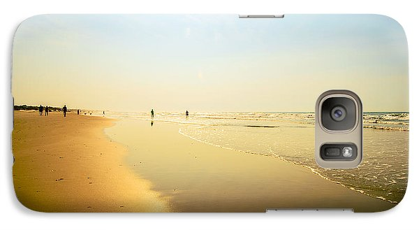 Galaxy Case featuring the photograph Beach Silhouettes 2 by John Harding