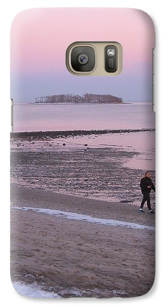 Galaxy Case featuring the photograph Beach Stroll by John Scates