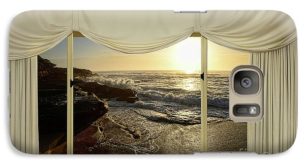 Beach Sunrise From Your Home Or Office By Kaye Menner Galaxy S7 Case by Kaye Menner