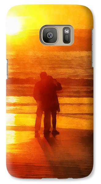 Galaxy Case featuring the digital art Beach Sunrise Love by Francesa Miller