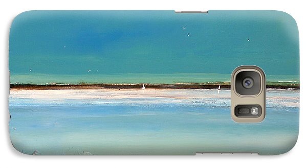 Landscape Galaxy S7 Case - Beach Textures by Toni Grote