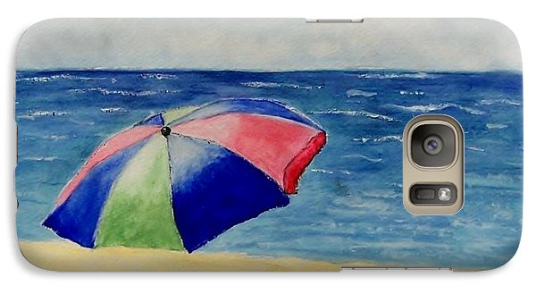 Galaxy Case featuring the painting Beach Umbrella by Jamie Frier