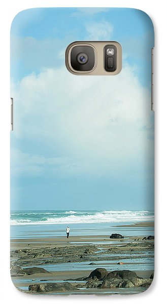 Galaxy Case featuring the photograph Beach Walk by Mary Jo Allen