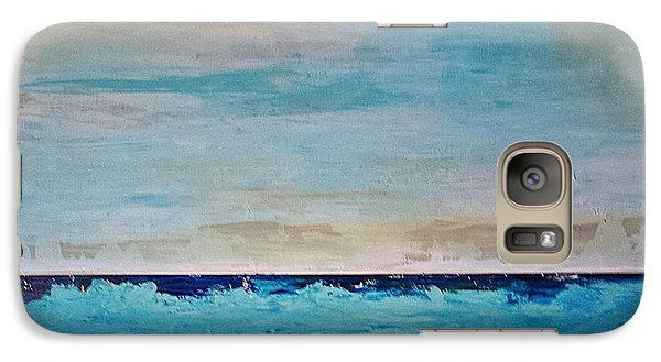 Galaxy Case featuring the painting Beach1 by Diana Bursztein