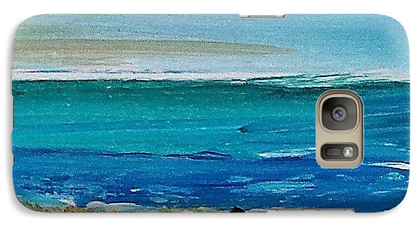 Galaxy Case featuring the painting Beach2 by Diana Bursztein