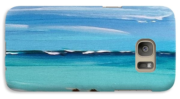 Galaxy Case featuring the painting Beach3 by Diana Bursztein
