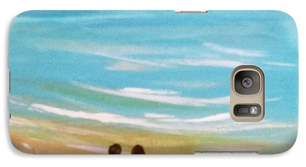 Galaxy Case featuring the painting Beach5 by Diana Bursztein