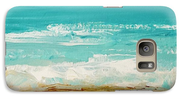 Galaxy Case featuring the painting Beach6 by Diana Bursztein