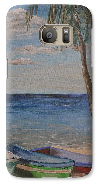 Galaxy Case featuring the painting Beached by Debbie Baker