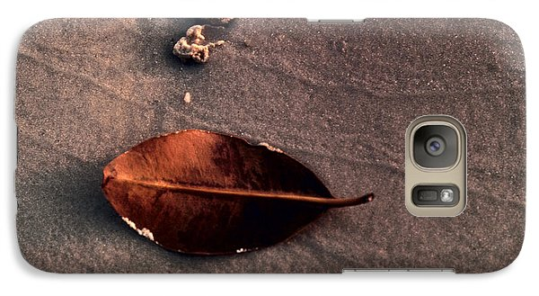 Galaxy Case featuring the photograph Beached Leaf by Brent L Ander