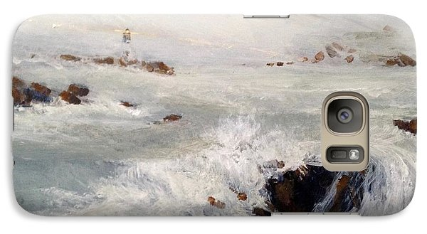 Galaxy Case featuring the painting Beacon by Helen Harris