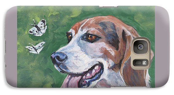 Galaxy Case featuring the painting Beagle And Butterflies by Lee Ann Shepard