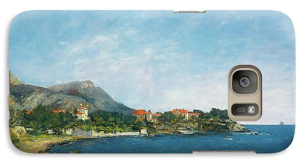 Galaxy Case featuring the painting Bealieu - The Bay Of Fourmis by Eugene Boudin