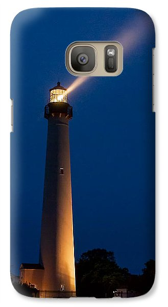 Galaxy Case featuring the photograph Beam Of Light At Cape May by Nick Zelinsky